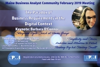 PMI Maine Business Analyst Community February 2019 Meeting